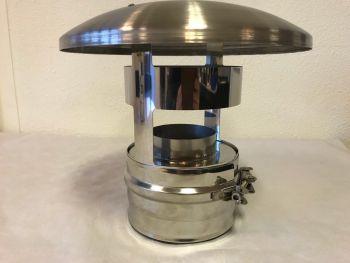 ICS 25 RVS Ø 100/150 mm trekkap zonder gaas