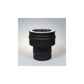 ICS 25 RVS Ø 150/200 mm onderverloop zwart