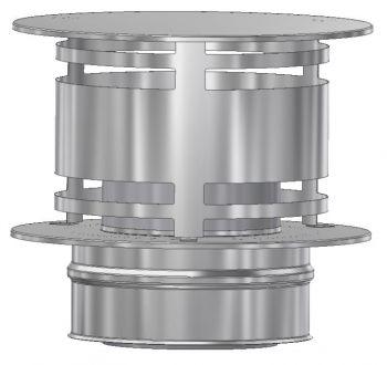 ICS 25 RVS Ø 200/250 mm trekkap zonder gaas