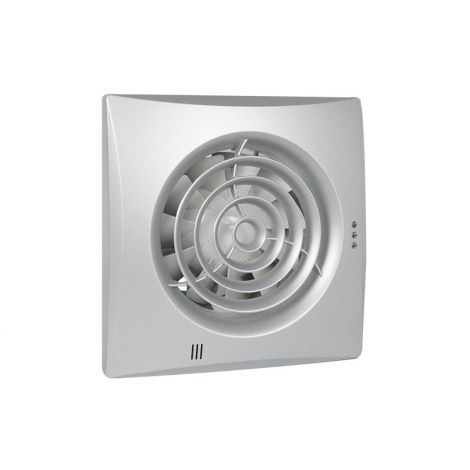 Badkamer/Toiletventilator Silencio 125 Timer Front Aluminium