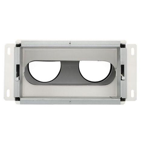 Uniflexplus Wandcollector achter 2 x Ø 90 mm