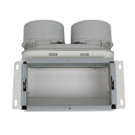 Uniflexplus Wandcollector boven 2 x Ø 90 mm