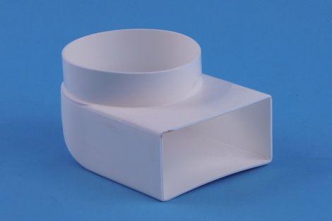 Kunststof Kanaal Overgangsstuk Haaks Ø100mm >110x54 mm inwendig