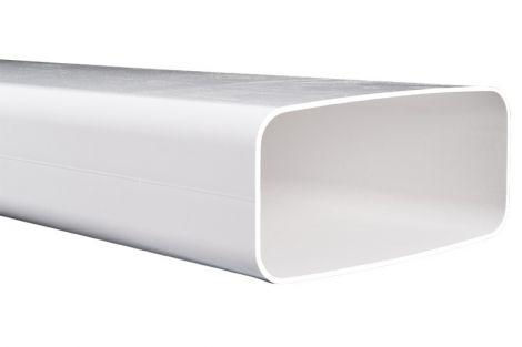 Kunststof Kanaal 220x90 mm buis eco+ L=1000 mm