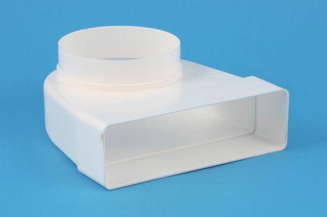 Kunststof Kanaal overgangsstuk haaks Ø 150 - 204x60 mm