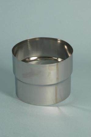 Flex RVS aansluitstuk zonder ring Ø 125 mm