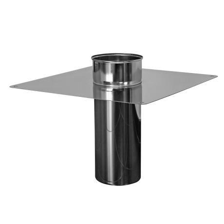 Fles RVS schoorsteenafdekplaat B/O Ø 80mm