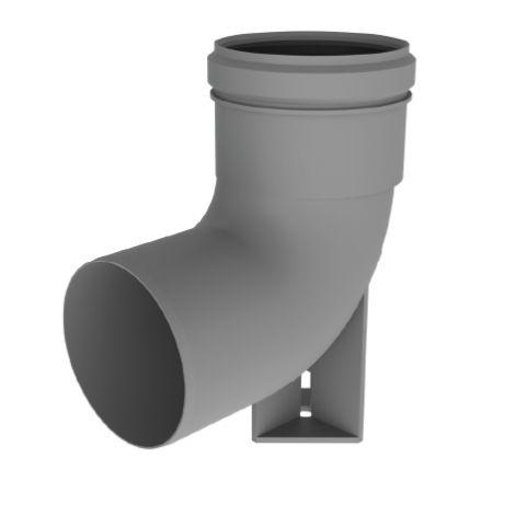 BH PP Flex Ø 100 mm RG bocht 90° met steun