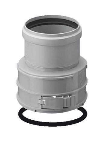 BH PP Flex Ø 100 mm koppelstuk F/M (Boven)