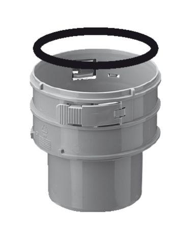 BH PP Flex Ø 100 mm koppelstuk S/F (Onder)