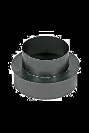 Kachelpijp Zwart verloop Ø 111 - 131 mm