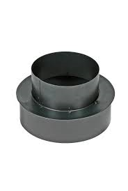 Kachelpijp Zwart verloop Ø 125 - 131 mm