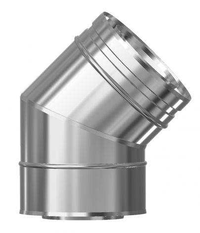 Concentrisch CFS RVS/RVS Ø 80/130 mm bocht 45°