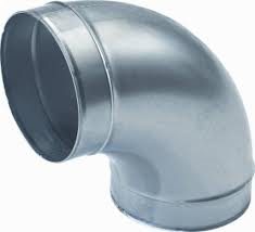 Spiralo gladde bocht Ø 250 mm 90°