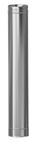 Concentrisch CFS RVS/RVS Ø 130/200 mm pijp L = 1000 mm