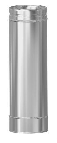 Concentrisch CFS RVS/RVS Ø 80/130 mm pijp L = 500 mm