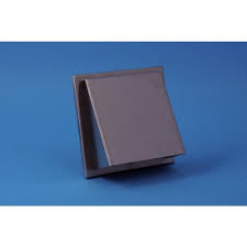 RVS Buitenrooster schuin met gaas Ø 125 mm