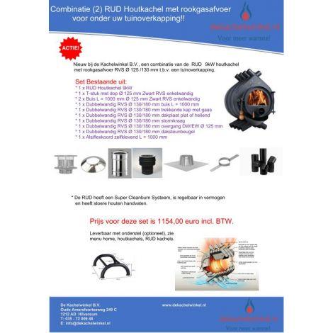 Combinatie (2) RUD 9 kW + RVS RGA Ø 125/130mm (informeer naar levertijd)
