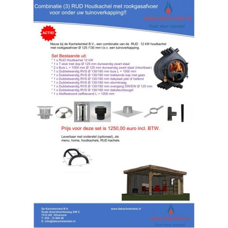 Combinatie (3) RUD 12 kW + RGA Ø 125/130mm