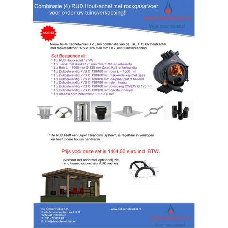 Combinatie (4) RUD 12 kW + RVS RGA Ø 125/130mm