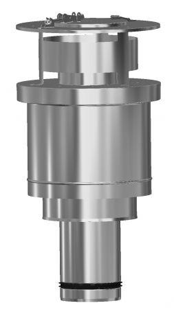 Concentrisch CFS RVS/RVS Ø 80/130 mm dakdoorvoer (uitmonding RG/LTV)