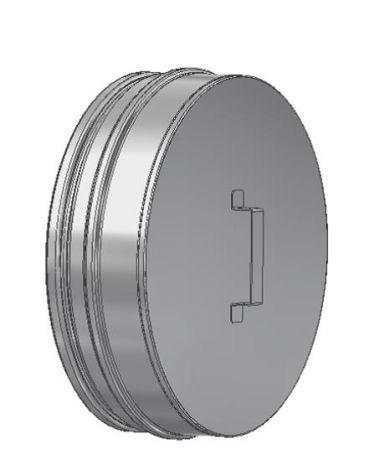 ICS 25 RVS Ø 180/230 mm deksel voor T-stuk