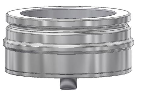 ICS 25 RVS Ø 130/180 mm dop met aftap