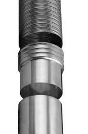 Flex RVS Onderadapter draai voor Ø 100 mm enkel gelaagd