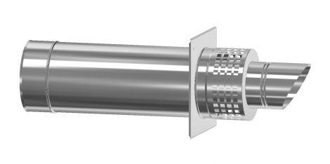 Concentrisch CFS RVS/RVS Ø 80/130 mm geveldoorvoer