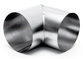 Spiralo haakse bocht 90°  Ø 125 mm SHB