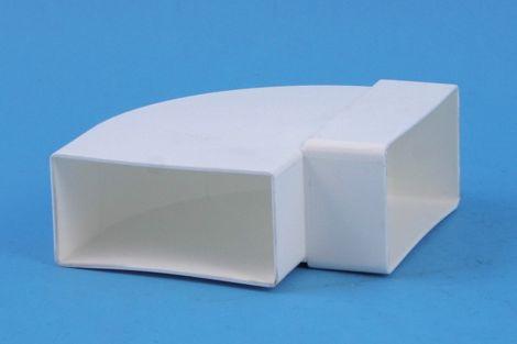 Kunststof Kanaal Hoekstuk 110x54 mm Horizontaal 90°