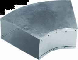 Instort 220/80 mm bocht 45° Horizontaal Gegalvaniseerd