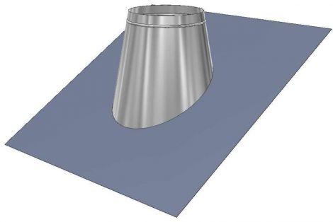 Concentrisch CFS RVS Ø 130/200 mm loodslab 20°-45°
