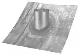 Vaste loodpan ventilatiedoorvoer Ø 180 mm 35° - 40°