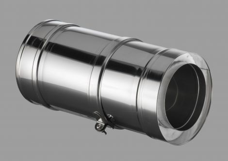 ICS 25 RVS Ø 80/130 mm paspijp 375-585 mm