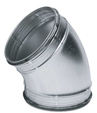Spiralo gladde bocht Ø 125 mm 45° SAFE