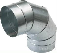 Spiralo segmentbocht 90°  Ø 400 mm