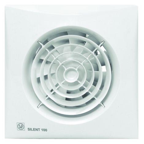 S&P Toilet / Badkamerventilator Silent 100  CHZ Hygro + Timer