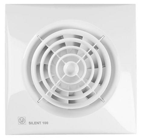 S&P Toilet / Badkamerventilator Silent 100  CZ standaard