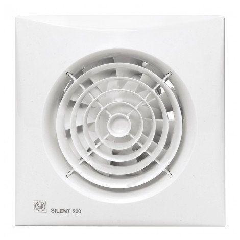 S&P Toilet / Badkamerventilator Silent 200 CHZ Hygro + Timer