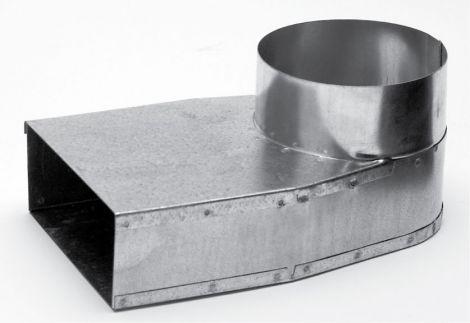 Instort 220/80 mm lepe hoek Ø 125mm symetrisch Gegalvaniseerd