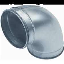 Spiralo gladde bocht 90°  Ø 150 mm