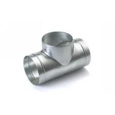 Spiralo geperst T-stuk 90° Ø 160 mm spruit Ø 125 mm