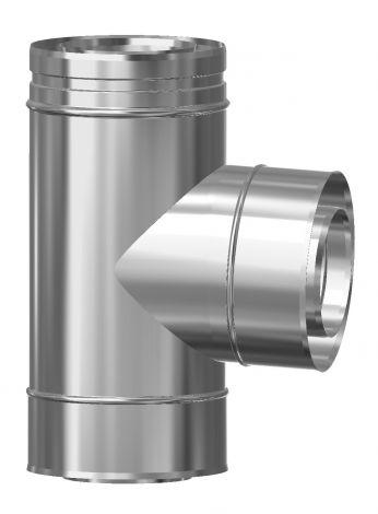 Concentrisch CFS RVS/RVS 130/200 mm T-stuk 90°