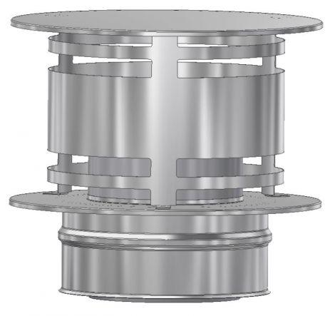 ICS 25 RVS Ø 180/230 mm trekkap zonder gaas