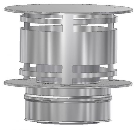 ICS 25 RVS Ø 350/400 mm trekkap zonder gaas