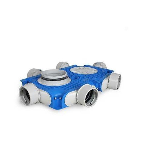 Uniflexplus Instortverdeler 6 x Ø 90 mm zijaansl. Ø 125 mm