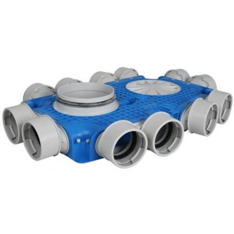 Uniflexplus Instortverdeler 12 x Ø 90 mm zijaansl. Ø 180 mm