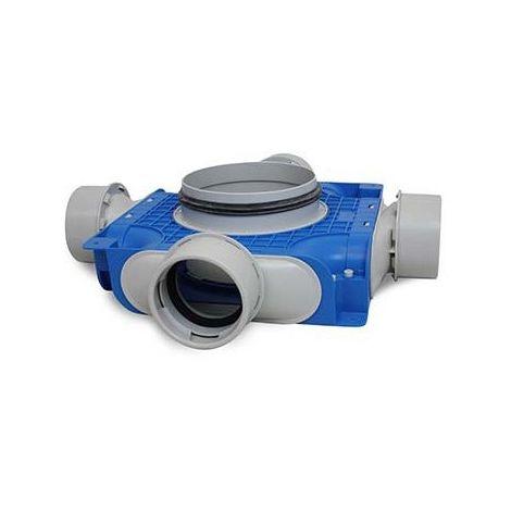 Uniflexplus Instortverdeler 4 x Ø 90 mm zijaansl. Ø 125 mm