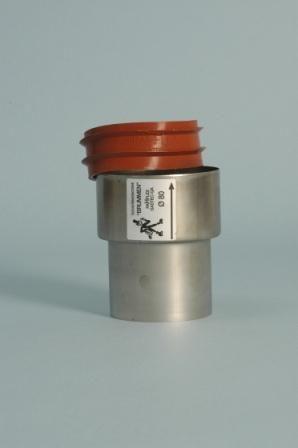 Flex RVS QA aansluitstuk met Ring Ø 100 mm